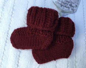 Hand-Knit Baby Booties