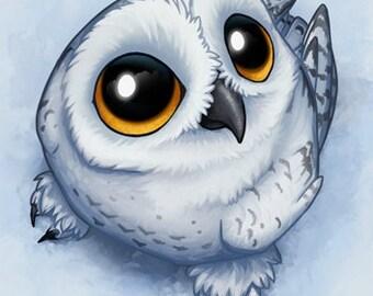 Baby Snow Owl Advanced Cross Stitch Pattern PDF
