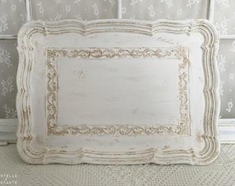 Decorative tray and romantic retro presentation