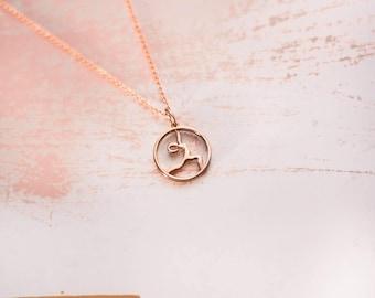 Yoga Jewelry | Warrior I | Rose Gold