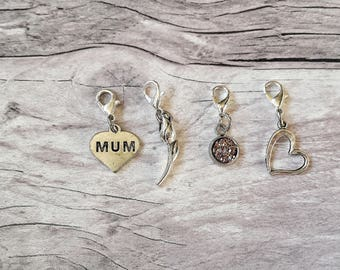 Mum Stitch Markers// Mothers Day Progress Keepers// Gift knitting for Mum