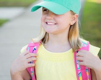 Monogrammed Kids Baseball Cap, Personalized Cap, Monogrammed Kids Baseball Hat, Monogrammed Cap, Kids Hat, Monogram Ball Cap, Monogram Hat