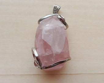 Rose Quartz Pink Quartz Pendant