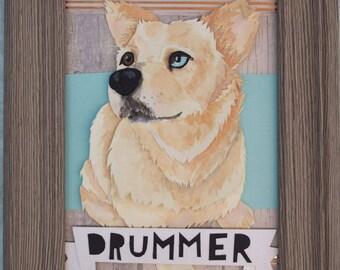 Personalized Cut Paper Pet Portrait / Gift