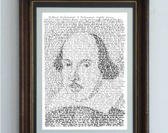 William Shakespeare, portrait of the bard in his own words, from his play A Midsummer Night's Dream