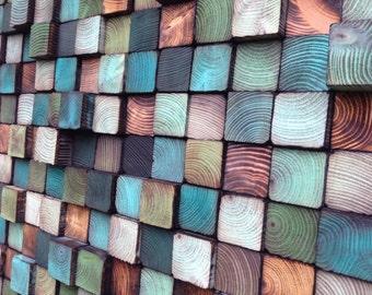 Wood Wall Art - Wood Art Sculpture - Reclaimed Wood Art Wall Installation