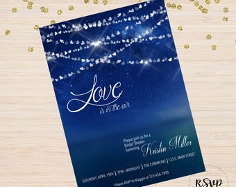 Love is in the Air Shower Anniversary Party Invitation