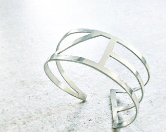 BRACELET Sterling Silver, Contemporary Geometric Jewelry, Minimalist Design, The Square Collection, Handmade jewellery, Braga, Architecture