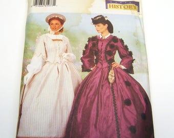 Butterick 6694 Civil War Era Dresses Size 18-20-22