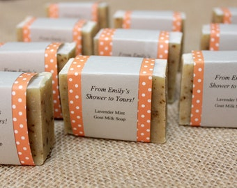 60 Soap Shower Favors - Soap Wedding Favors - Soap Bridal Shower Favors - Soap Baby Shower Favors - From My Shower to Yours - Custom Favors