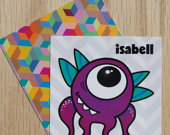"Replacement Card ""Isabell"" — Oh Those Monsters: Memory Game"