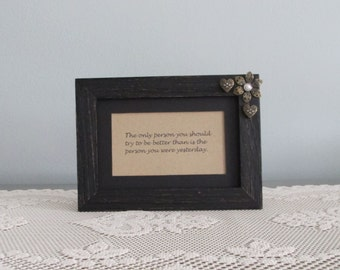 Self-Help Proverb Picture Frame