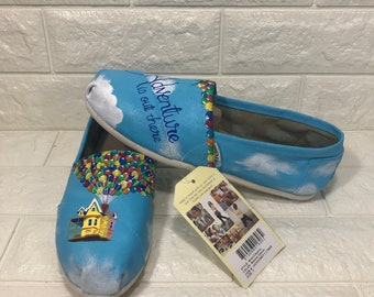 UP Toms. Handpainted custom shoes. Ellie & Carl. Adventure is out there.