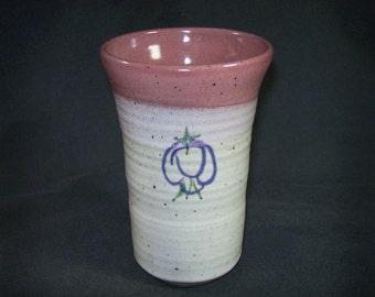 Vintage Hand Thrown Signed Art Pottery Tumbler / 1994 David Myers Stoneware Vessel