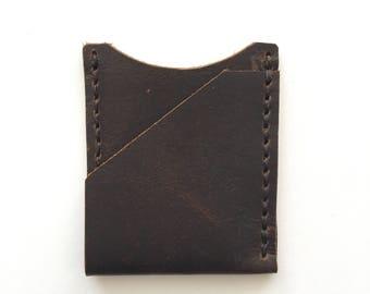 Diagonal Card Wallet- brown
