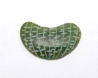 Green Jade Quartzite Cabachon for Jewelry designs flat back (RK14B7-19)