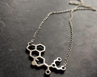 LSD Necklace, LSD Molecule Necklace, Molecule Necklace, Science Jewellery, Science Jewelry