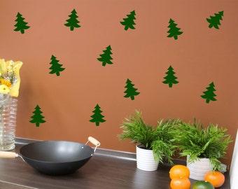 Christmas Tree wall decal set of 12