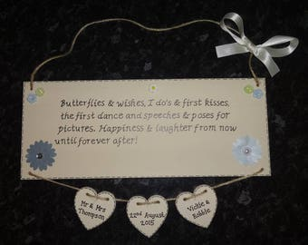 Personalised Wedding Gift Plaque