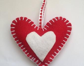 Handmade felt Heart Christmas tree Decoration