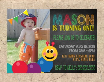 Baby Einstein Birthday Invitation - ANY AGE - Colors can be Customized!