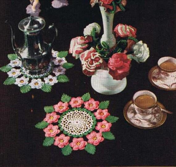 Crochet Irish Rose Doily Pattern Vintage