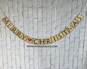 Christmas banner, Christmas garland, Merry Christmas banner,holiday decor, Christmas Photo Prop, Christmas Sign, Christmas Bunting