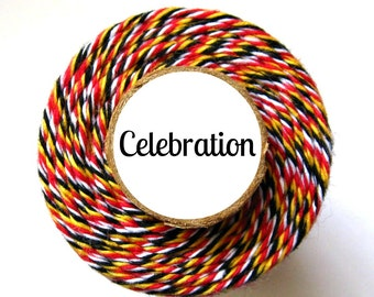 Red, Yellow, Black, & White Bakers Twine by Trendy Twine - Celebration - So Pretty with Disney Projects and Layouts
