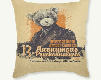 Anonymous Psychoanalysts: Pillow Case Cushion Cover
