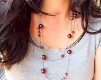 Choco balls convertible long necklace