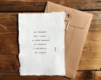 footed | Poem on cotton paper