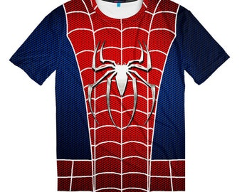 Spider Man Cosume T-shirt, Men's Women's All Sizes