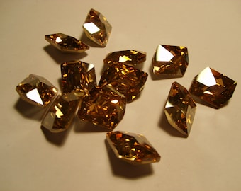 1 pc. Cosmic Fancy 20x16mm Crystal (001) Golden Shadow Swarovski Crystallized 4739 SALE