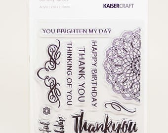 KaiserCraft Bombay Sunset Collection Clear Stamps -- Acrylic -- You Brighten My Day