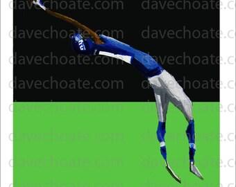 Odell Beckham Jr.,, New York Giants Art Photo Print