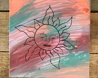 Sun Face Canvas Print