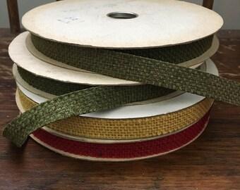 Vintage Burlap Ribbon