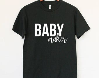 Baby Maker Tee - New Dad Best Gift - BABY Announcement T-Shirt - Father's Day Gift - Cool Dad To Be Tee -Best Gift For New Dad-Dad Surprise
