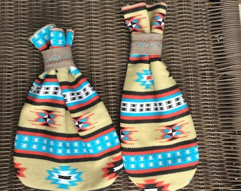 Torquise Jewelry Gift Bag, Native American Style, Father's Day Gift, Girlfriend Gift, Southwestern Style, Set of 2, Birthday Gift, Recycled