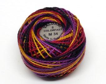 Valdani Pearl Cotton Thread Size 8 Variegated: #M34 Jubilation