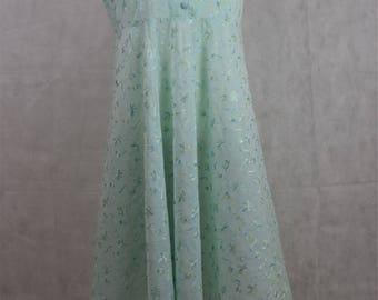 Vintage Handmade Light Blue Dress, vintage clothing, vintage, clothing, vintage dress, vintage dresses, dress, dresses, women's clothing