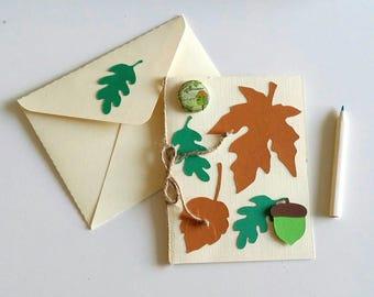 Decor card with envelope creation MLP autumn leaf