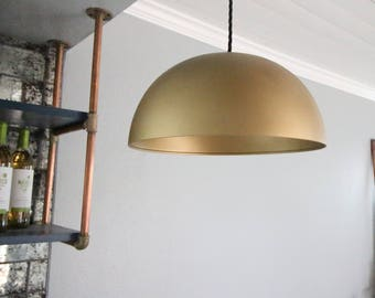 "14"" Brass Dome Pendant Light dining room light kitchen light island light brass light"