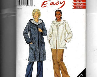 New Look Misses' Coat and Jacket Pattern 6100