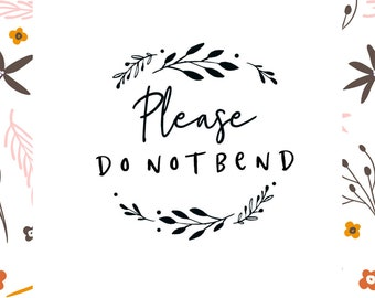 """Please do not bend stamp, wreath please do not bend stamp, do not bend stamp.  Pick Self-inking or Wood Handle  2"""" diameter Style #(20524)"""