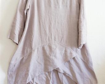 Women Loose fit Linen Long Dress, Oversize Dress, Plus Size Dress, Khaki Dress, Summer Dress
