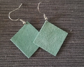 Sea Green Diamond Earrings