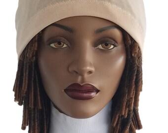 Jersey Knit Peach Dreads Lock Headband Headband Wide Headband Handmade