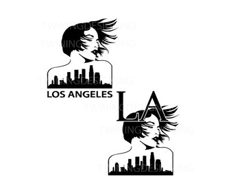 LA girl Los angeles girl Womans empowerment strong woman  SVG PNG dxf digital file
