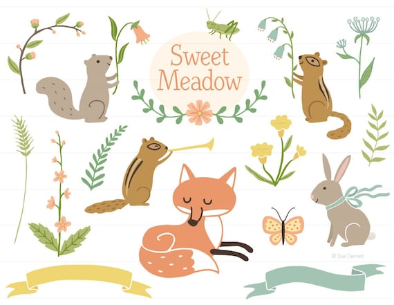 Woodland Clip Art   Woodland Clipart, Baby Shower Clipart, Birth  Announcement Clipart, Baby Clipart, Fox Clipart, Forest Animal Clipart From  ...
